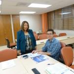 Profesora Juanita Rodríguez y Representante Estudiantil Harold Rivera